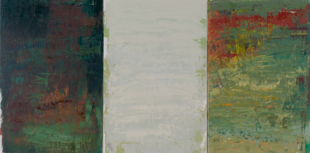 oil on panel,  three panels 18 x 12 inches each (45.7 x 30.5 cm ea.)
