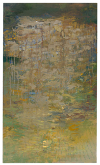 oil on canvas mounted on panel,  72 x 42 inches (182.8 x 106.7 cm)