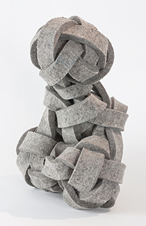 industrial felt,  13 x 11.4 x 18 inches (33 x 29.2 x 45.7 cm)