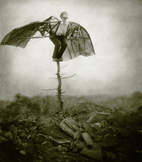 Gelatin silver print with mixed media on panel,  44 x 38 inches (111.7 x 96.5 cm)