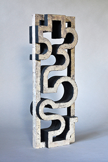 carved wood (oxidized gild and painted),  18 x 6.75 x 2.25 inches (45.7 x 17.1 x 5.7 cm)