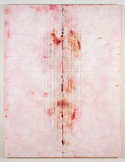 acrylic/limestone on panel,  106 x 82 x 3 inches (269.2 x 208.2 x 7.6 cm)