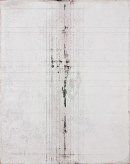 acrylic and limestone on panel,  37 x 30 x 3.5 inches (94 x 76.2 x 8.8 cm)