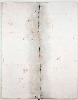 acrylic and limestone on panel,  106 x 82 x 3 inches (269.2 x 208.2 x 7.6 cm)