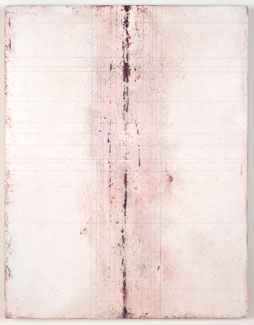 acrylic and limestone on panel,  64 x 49 x 3 inches (162.5 x 124.4 x 7.6 cm)