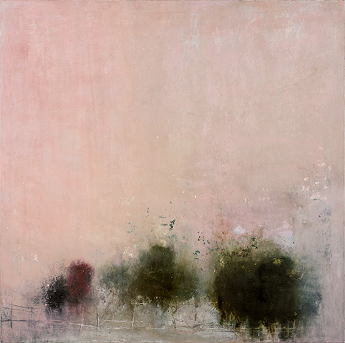 oil and wax on canvas,  48 x 48 inches (121.9 x 121.9 cm)