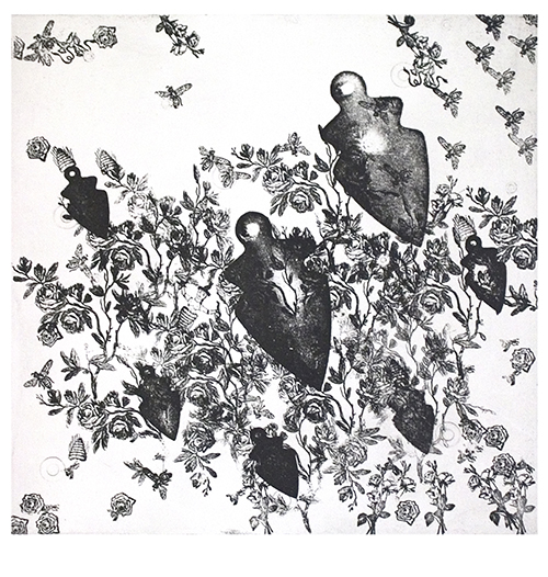Etching on Rives BFK (edition of 10),  24 x 22.25 inches (60.9 x 56.5 cm)