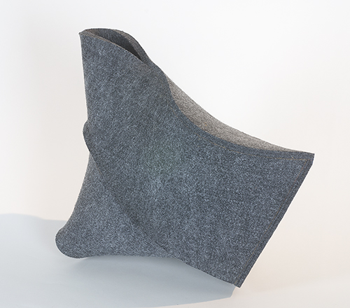 industrial felt,  7 x 13 x 10h inches (17.7 x 33 x 25.4 cm)