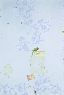 mixed media on panel,  60 x 40 inches (152.4 x 101.6 cm)