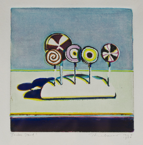 hand colored aquatint etching,  7.5 x 8.75 inches (paper) - 5 x 4.875 inches (image)