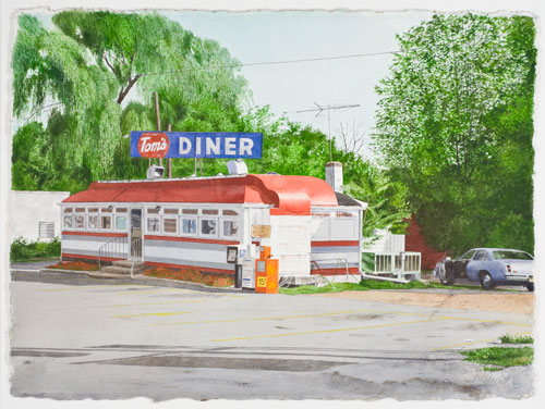 watercolor on paper,  23 x 30 inches (58.4 x 76.2 cm)